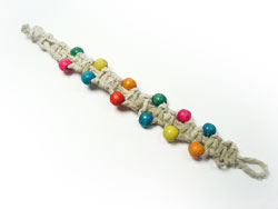 Bubblegum Bead Hemp Bracelet
