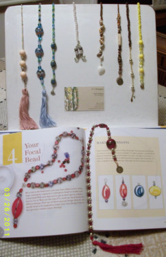 An amazing collection of thong bookmark jewelry, by Erin!