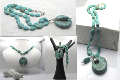 The simple elegance of turquoise jewelry~